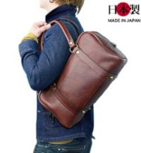 学生鞄風カジュアルボストンバッグ(牛革)