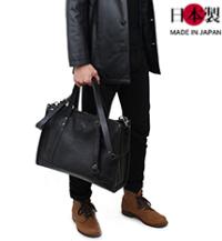 2wayボリュームビジネスバッグ(牛革×エイ革)