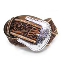 革カービングベルト(牛革)アメリカンスタイル