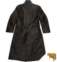 レザーロングコートスタンド襟120cm(牛革)
