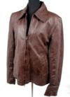 【特価品】襟付きレザージャケット(羊革)ウォッシュ加工