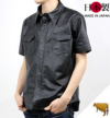 ウエスタンレザーシャツ(牛革)半袖スリムライン