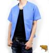 メッシュジャケット青半袖(牛革)