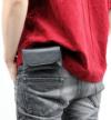 取り出しやすい薄手革スマートフォンケース(牛革)横型