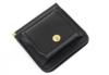 コンパクトで携帯しやすい小銭入れ付きマネークリップ(牛革)