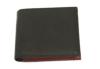 シンプルでいて機能的キップレザー二つ折り財布(牛革)