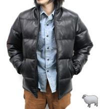Schott214(ショット) ラムレザースリムダウンジャケット(羊革)