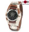 牛革で最も贅沢な3コンチョ革腕時計ハラコ(牛毛皮)