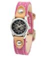 スリーカラー革腕時計スウェード(牛革)レディース