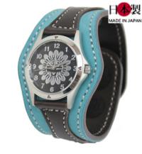 革腕時計ヌバック(牛革)ジャンパードットボタン