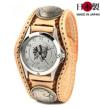 牛革腕時計バスケット(牛革)インディアンコイン
